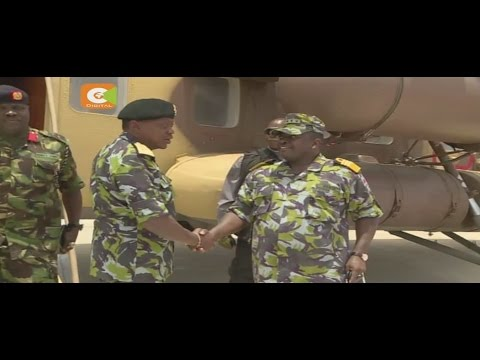 Kenyatta in historic visit to KDF in Somalia
