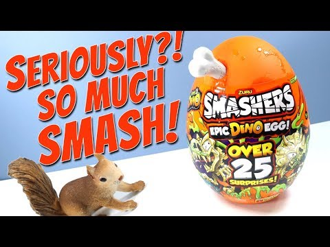 SMASHERS Series 3 Epic Dino Egg Over 25 Surprises! ZURU