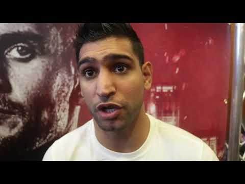 AMIR KHAN REACTS TO PHIL LO GRECO ALTERCATION & COMMENTS ABOUT HIS WIFE & TALKS KELL BROOK