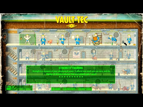 FALLOUT 4 Max Out SPECIAL/Perk Tree Instantly & Duplicate Items