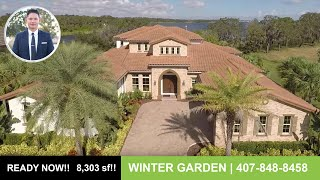 Winter Garden Luxury Waterfront Home | 8,303 sq. ft. w/ Walk-Out Basement | Lucerne II Model