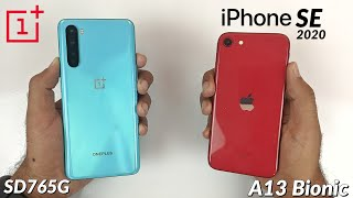 OnePlus Nord (SD765G) vs iPhone SE 2020 (A13 Bionic) Speed & Performance Test! 🤭