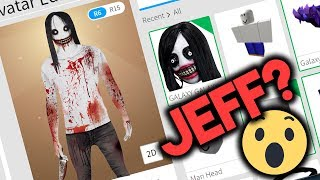 KONTO JEFF THE KILLER W ROBLOX!