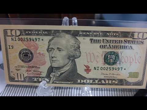 New Insanely Rare (128,000 Exist) 2017 $10 Ten Dollar Star Notes