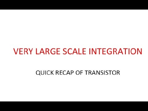 VLSI-VERY LARGE SCALE INTEGRATION- INTRODUCTION