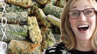 Baked Zucchini Fries, Ft. Qkatie