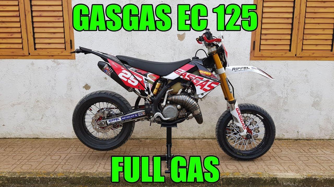 Gasgas Ec 125 Motard Full Gas Pure 2 Stroke Sound Cala San Vicente Ibiza