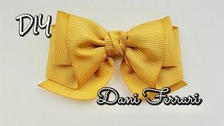 Laço Doce Gabriela – Tutorial passo a passo – Ribbon bow hair – Dani Ferrari