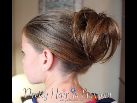 easy clip updo hairstyle