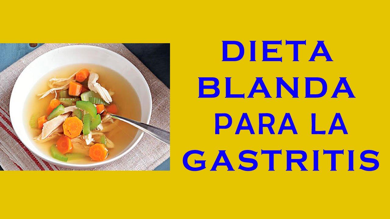 Dieta blanda y gastritis