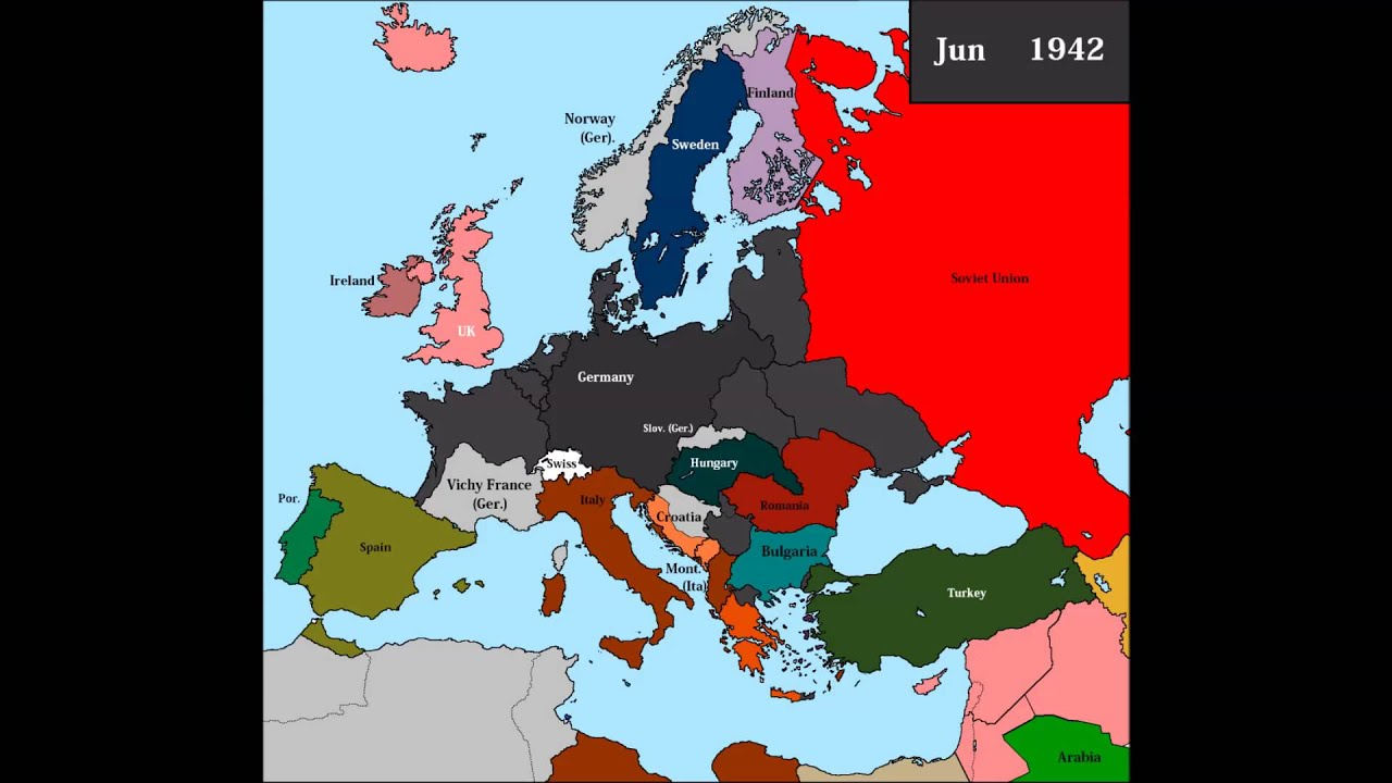 European Countries During WWII No Frontlines YouTube - Germany map during world war 2
