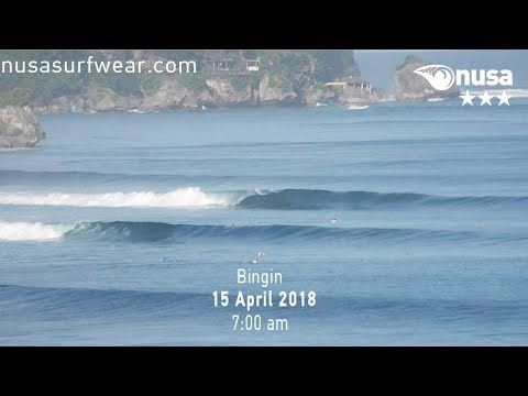 15 - 04 - 2018 /✰✰✰ / NUSA's Daily Surf Video Report from the Bukit, Bali.