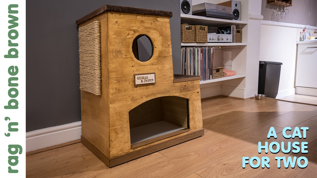 Making A Cat House For Two Using Scraps Of Wood Youtube