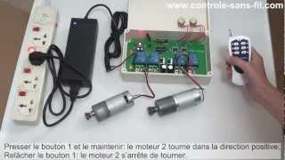 Comment utiliser un kit contrôleur inversion de moteur radio 12V 24V haute puissance 30A?
