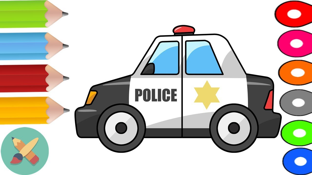 the police car coloring pages toys for kids kids animation for