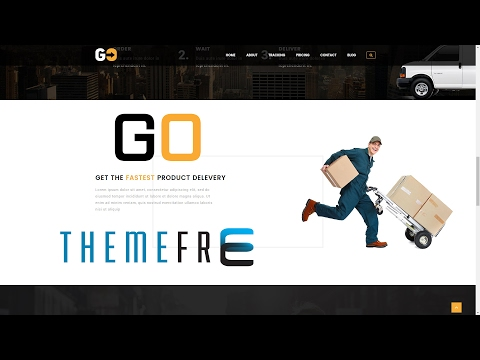 GO COURIER Wordpress Theme for Courier, Delivery Service, Cargo, Distribution, Transport, Carrier