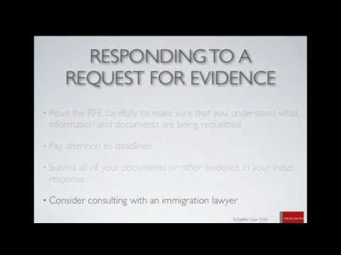 What is a Request for Evidence or RFE? - YouTube