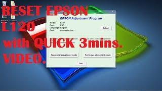 Gambar cover Epson L120 reset - QUICK 3 MINUTES VIDEO