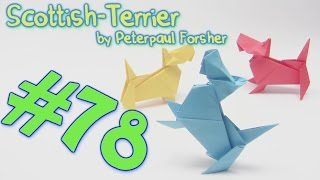 #78 Origami Dog Skottish Terrier - Yakomoga Origami Tutorial