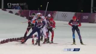 Winter Olympics Sochi Biatlon stíhací závod - muži
