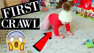 BABY CRAWLS FOR THE FIRST TIME ON CHRISTMAS!! | FIRST STEPS CAPTURED ON CAMERA | CHRISTMAS VLOG 2017