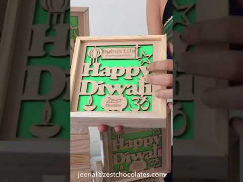 Diwali gift for a pharmaceutical company by Zest Chocolates