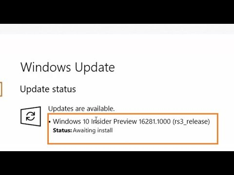Windows 10 Insider Preview 16281 rs3 release updates are available