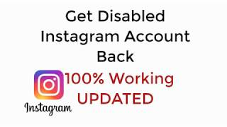 How to Get Back Disabled Instagram Account in 2019 UPDATED 100
