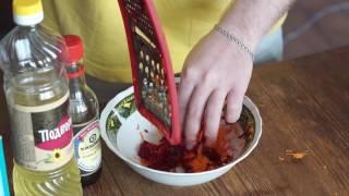 салат с свеклой и морковью