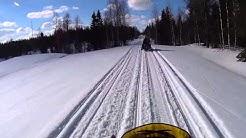 Moottorikelkkailua Vaaranniva Metsäkylä välillä