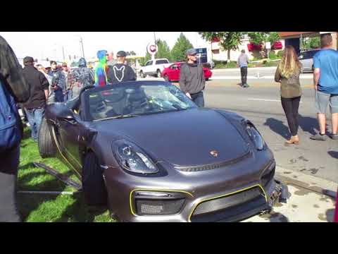 Porsche Cayman Spyder Crashed Into Crowd At Boise Cars And Coffee