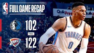 Full Game Recap: Mavericks vs Thunder | Westbrook Records 10th Triple-Double Of Season