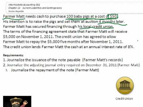 Issuing a Note Payable (Accounting Transaction) - YouTube