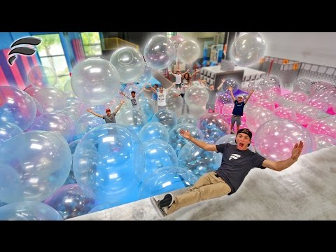 Thumbnail: WUBBLE BUBBLES FILL TRAMPOLINE PARK! (BUBBLE WONDERLAND)