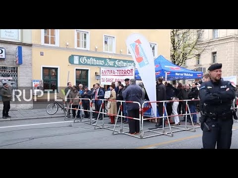 Germany: AfD And Pegida Supporters Protest Against Bavarian Antifa Congress In Munich