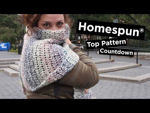5 Most Popular Homespun® Knit & Crochet Patterns