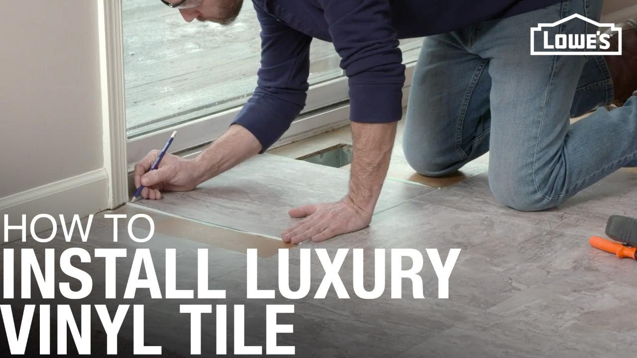 How To Install Luxury Vinyl Tile Youtube