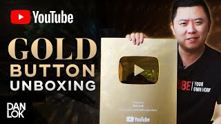 Unboxing Gold YouTube Play Button - 1 Million Subscribers