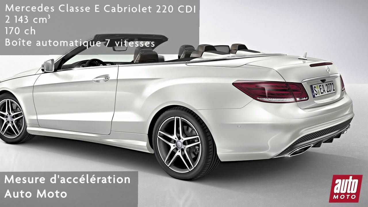 mercedes classe e cabriolet 220 cdi youtube. Black Bedroom Furniture Sets. Home Design Ideas