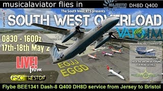 Busy BEE1341 VATSIM UK Event Majestic Q400 Jersey & Bristol
