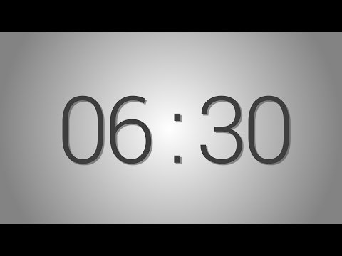 6 Minutes 30 seconds countdown Timer - Beep at the end | Simple Timer (six min thirty sec)
