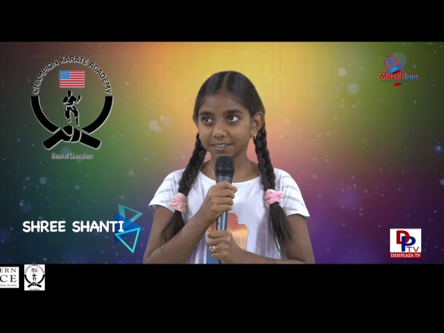 "Shree Shanthi speaks about ""Plants have feelings"" in Talking Bee - Public Speaking competitions 2016"
