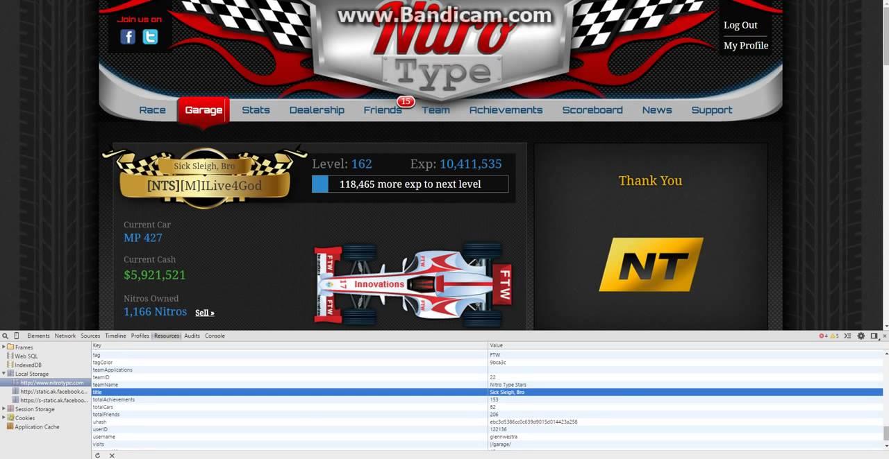 <b>Nitro type cheats codes</b> - YouTube