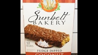 Sunbelt Bakery: Fudge Dipped Coconut Chewy Granola Bars Review