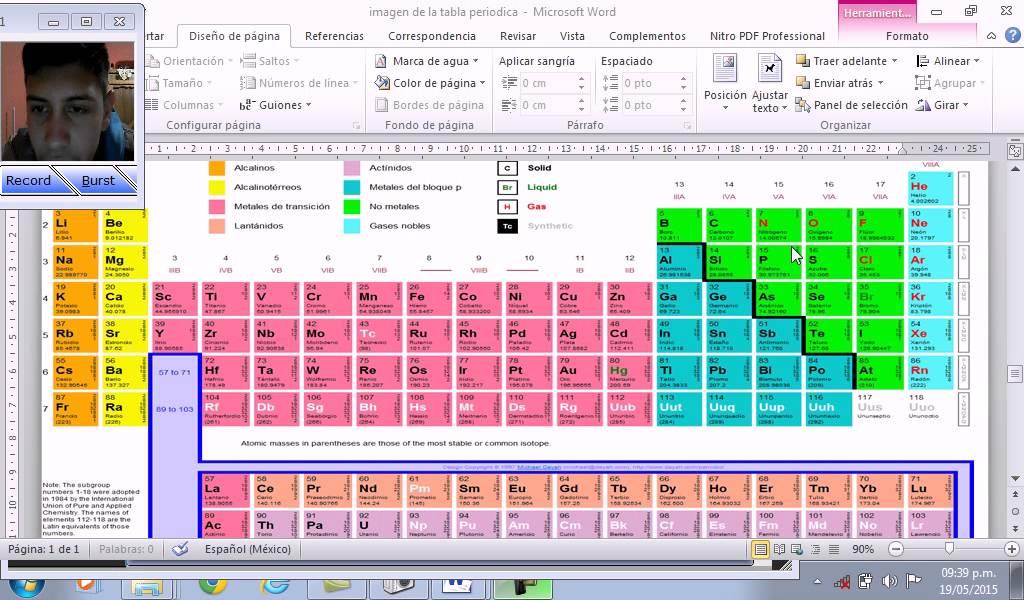 Tabla periodica de los elementos quimicos youtube tabla periodica de los elementos quimicos urtaz Image collections