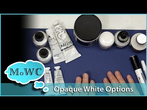 Choosing an Opaque White to use over Watercolor