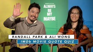 Ali Wong and Randall Park Play Rom-Com Movie Quote Game