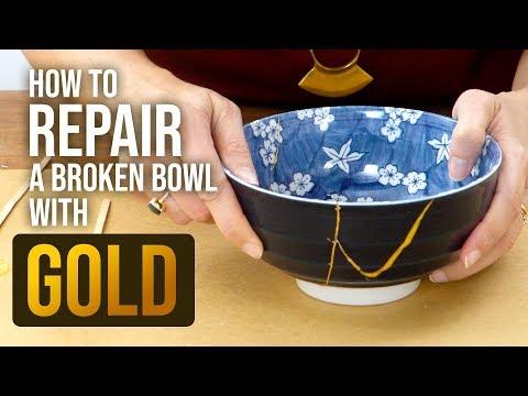 How to Repair Broken Bowls with Gold ~ The Art of Kintsugi - HGTV Handmade