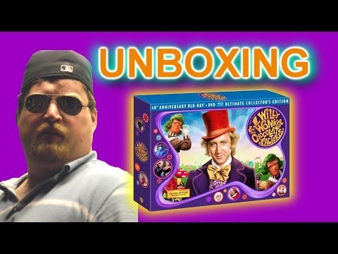 Willy Wonka & the Chocolate Factory 40th Anniversary BluRay Unboxing
