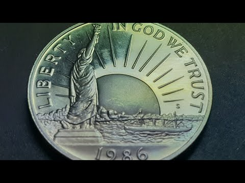 US Half Dollar Immigration Coin 1986